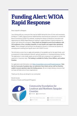 Funding Alert: WIOA Rapid Response