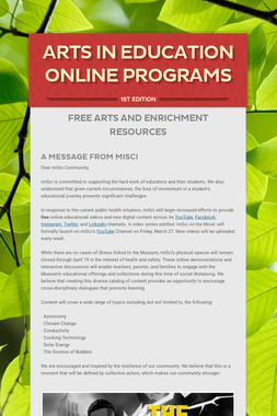 Arts in Education Online Programs