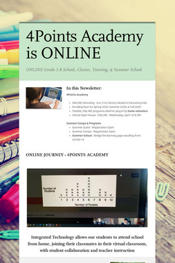 4Points Academy is ONLINE