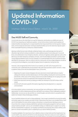 Updated Information COVID-19