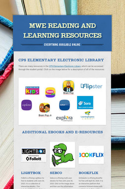 MWE Reading and Learning Resources