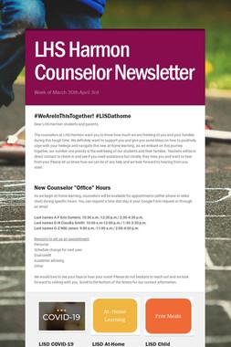 LHS Harmon Counselor Newsletter