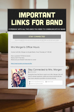 Important Links for Band
