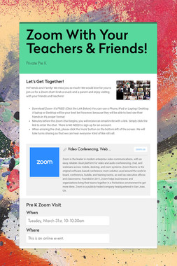 Zoom With Your Teachers & Friends!