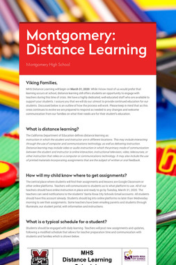 Montgomery: Distance Learning