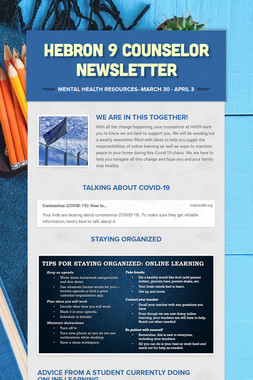 Hebron 9 Counselor Newsletter