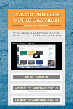 Taking the Fear Out of Canvas #1