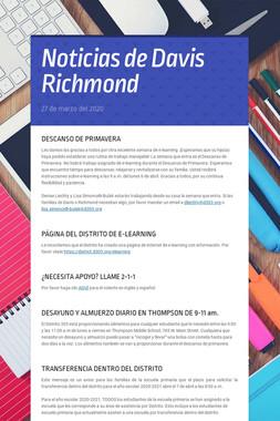 Noticias de Davis Richmond