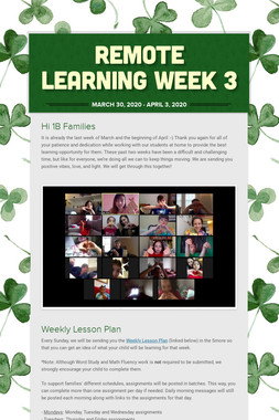 Remote Learning Week 3