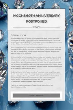 MCCHS 60th Anniversary Postponed
