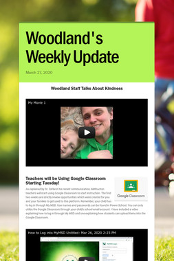 Woodland's Weekly Update