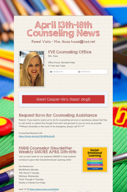 FVE Counseling News