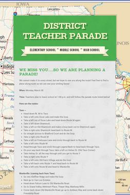 District Teacher Parade