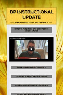 DP Instructional Update