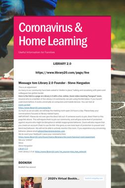 Coronavirus & Home Learning