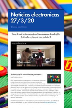 Noticias electronicas 27/3/20