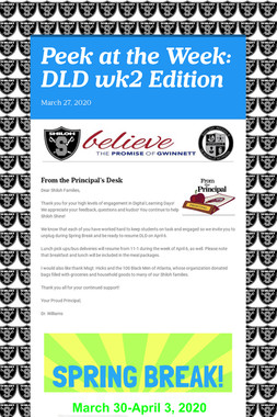 Peek at the Week: DLD wk2 Edition
