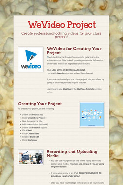WeVideo Project