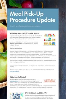 Meal Pick-Up Procedure Update