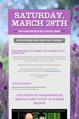 Saturday, March 28th