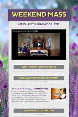 Weekend Mass