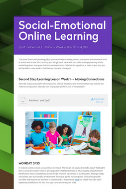 Social-Emotional Online Learning