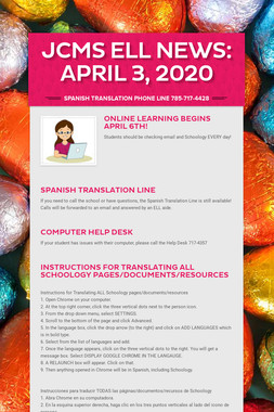 JCMS ELL News: April 3, 2020