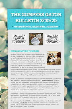 The Gompers GATOR Bulletin 3/30/20
