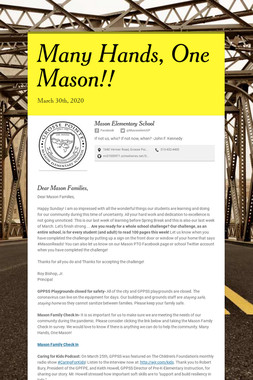 Many Hands, One Mason!!