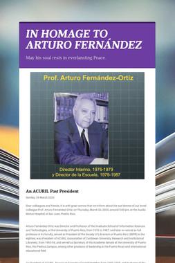 IN HOMAGE TO ARTURO FERNÁNDEZ