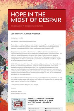 HOPE IN THE MIDST OF DESPAIR