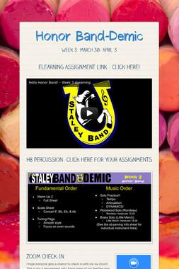 Honor Band-Demic