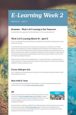 E-Learning Week 2