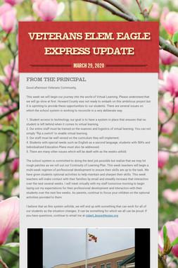Veterans Elem. Eagle Express Update