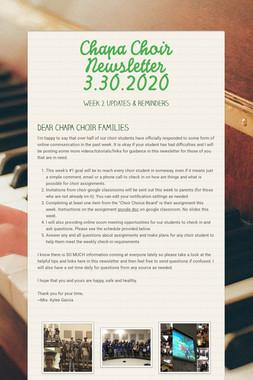 Chapa Choir Newsletter 3.30.2020