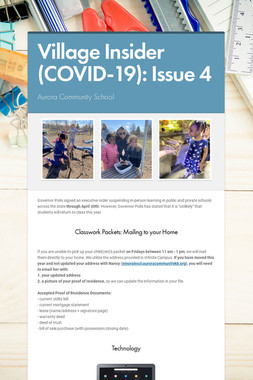 Village Insider (COVID-19): Issue 4