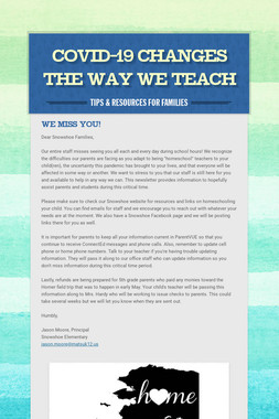 Covid-19 Changes The Way We Teach