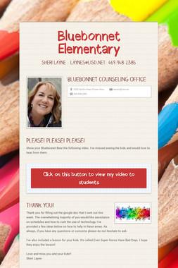 Bluebonnet Elementary Counselor