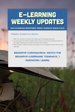 E-Learning Weekly Updates