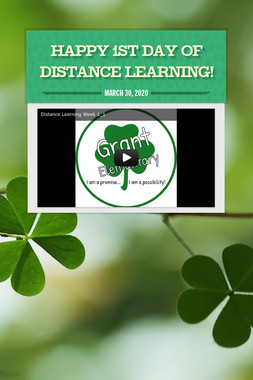 Happy 1st Day of Distance Learning!