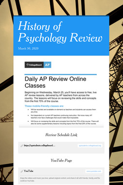 History of Psychology Review