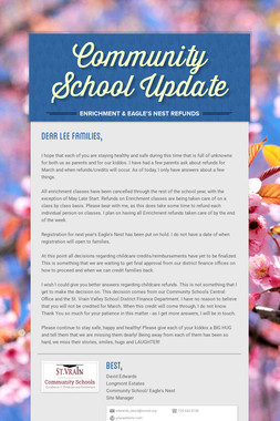 Community School Update