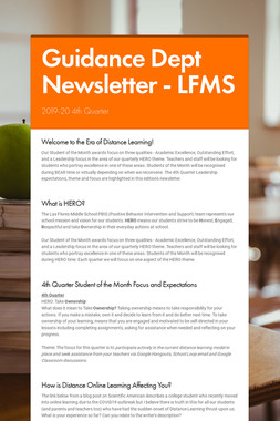 Guidance Dept Newsletter - LFMS