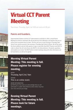 Virtual CCT Parent Meeting