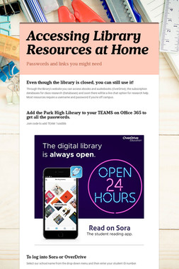 Accessing Library Resources at Home