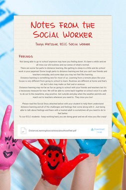 Notes from the Social Worker