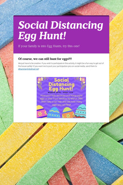 Social Distancing Egg Hunt!