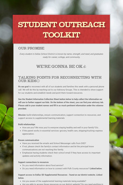 Student Outreach Toolkit