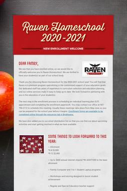 Raven Homeschool 2020-2021