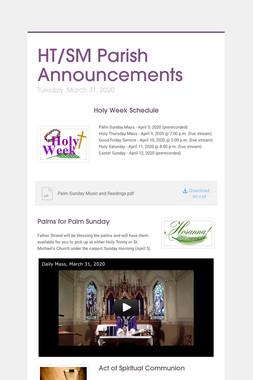 HT/SM Parish Announcements